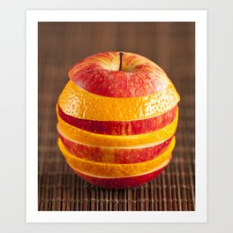 Mixed orange and apple Art Print