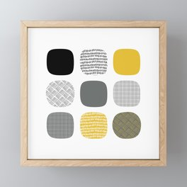 Abstract in mustard and grey Framed Mini Art Print