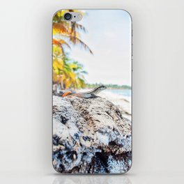 lizard at the beach iPhone Skin
