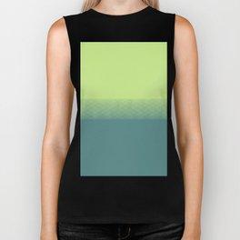 Lime green to dark green gradient boundary spectrum Biker Tank
