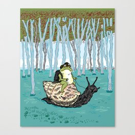 The Snail and The Frog Canvas Print