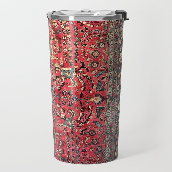 Antique Persian Red Rug Travel Mug
