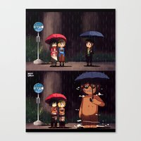 snk Canvas Prints featuring SNK-My neighbor titan by Mimiblargh