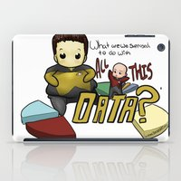 data iPad Cases featuring Data Overload by Ai-hime