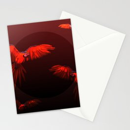 Papagei sunset Stationery Cards
