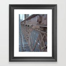 Brooklyn Bridge, New York City, Structural Architecture Framed Art Print