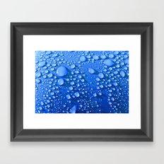 Raindrops on Blue Framed Art Print