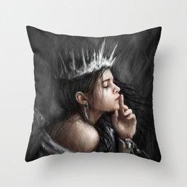 Queen of Secrets Throw Pillow