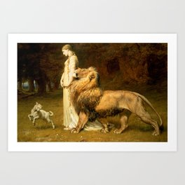 Briton Riviere~Una And Lion From Spensers Art Print