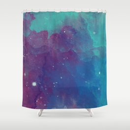 Watercolor night sky Shower Curtain