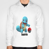 squirtle Hoodies featuring Squirtle by Yamilett Pimentel