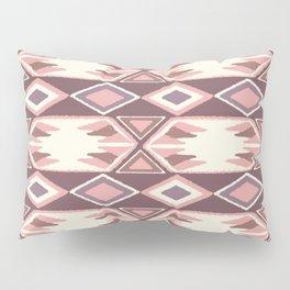 Pink Fall Ikat Pillow Sham