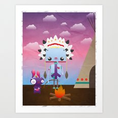 Native Bot Art Print