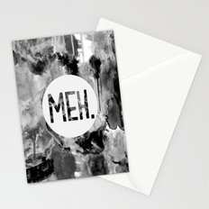 Meh. (B&W) Stationery Cards