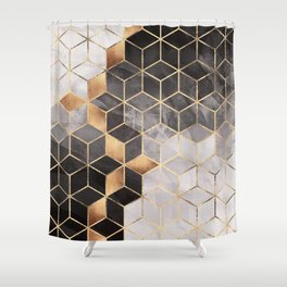 Smoky Cubes Shower Curtain