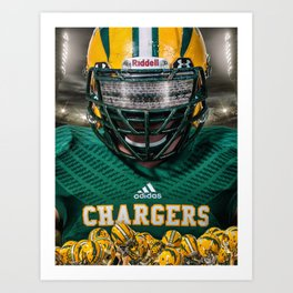 Edison Chargers Football Art Print