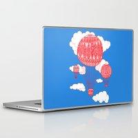 hot air balloon Laptop & iPad Skins featuring Hot Air Balloon by lush tart