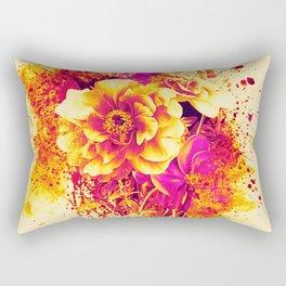 splash flowers Rectangular Pillow