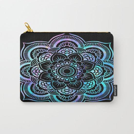 Mandala Pink Lavender Aqua galaxy space Carry-All Pouch