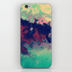 Watercolor marble iPhone Skin