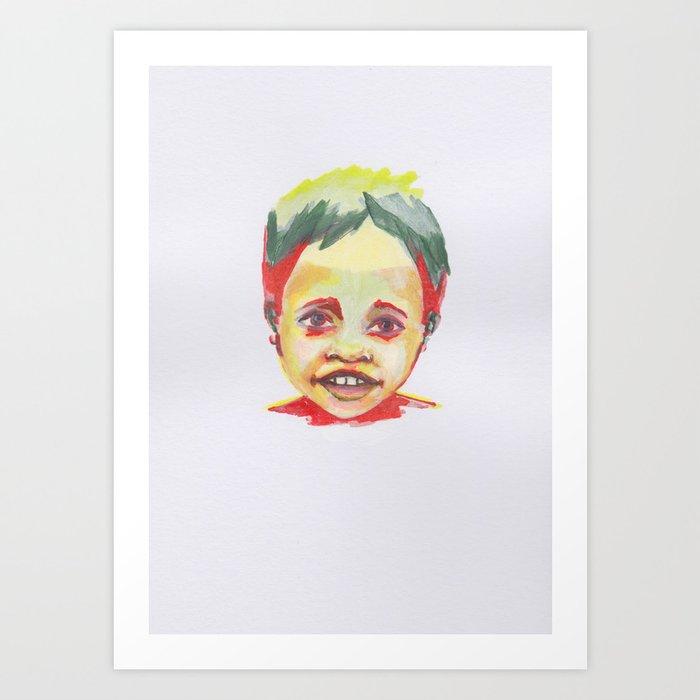Petites têtes 1 Art Print