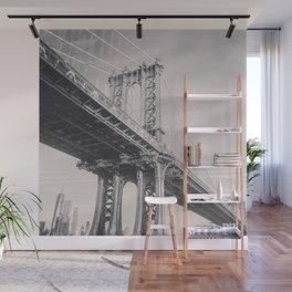 Manhattan Bridge, New York City, black & white, fine art photography, NY Wall Mural