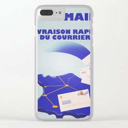 Vintage style French Mail Advert Art Print Clear iPhone Case