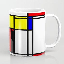 Mondrian Pattern Design Coffee Mug