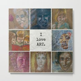 I Love Art Metal Print