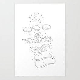 Bruschetta Time Art Print