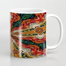 Red, Green And Gold Swirl Pattern Coffee Mug