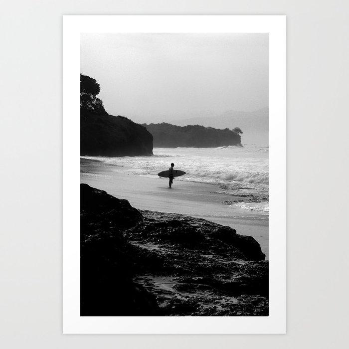 Secret Surf Spot Art Print