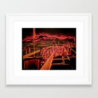 las vegas Framed Art Prints featuring Las Vegas by Rishi Parikh
