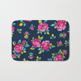 Raspberry Roses Bath Mat
