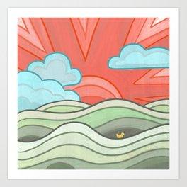 Ducky's Travels: Sun Art Print