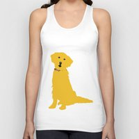 golden retriever Tank Tops featuring Golden Retriever  Dog by ialbert