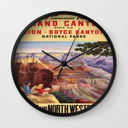 Vintage poster - Grand Canyon Wall Clock