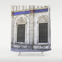 ali Shower Curtains featuring Sultan Ali Mosque - Cairo by CAPTAINSILVA