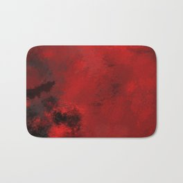 Red and Black Abstract Bath Mat