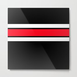 TEAM COLORS 2...RED Metal Print