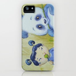 """Panda Pal Pleasantries"" iPhone Case"