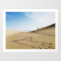 Hikers in Death Valley Art Print