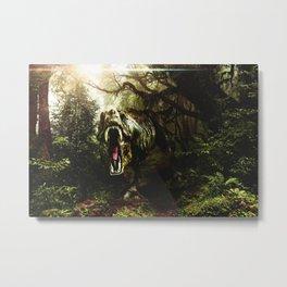 Jurassic Park T-rex Metal Print