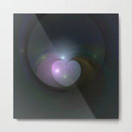 Please Rescue My Heart Fractal Metal Print