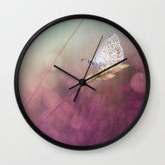 Purple heat... Wall Clock