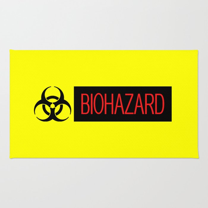 HAZMAT: Biohazard (Red, Black & Yellow) Rug