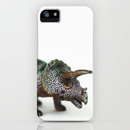 Fine Art Dinosaur Print: Triceratops iPhone Case