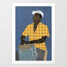 Conguero Art Print
