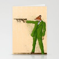 gangster Stationery Cards featuring Gangster Fox by Ichorteeth