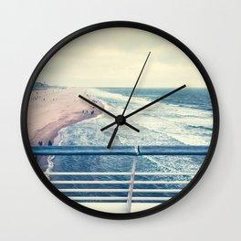 Beach at summer sunset Wall Clock